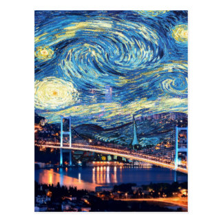 Starry Istanbul Postcard