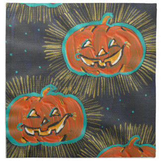 Starry Jacks Halloween Cloth Napkins