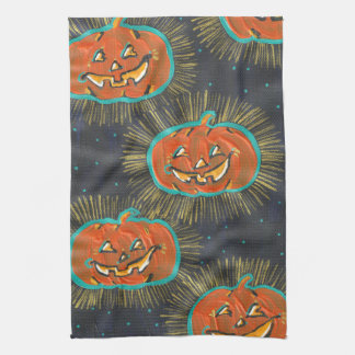 Starry Jacks Halloween Kitchen Towel