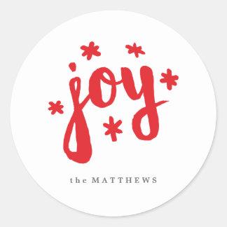 Starry Joy Classic Round Sticker