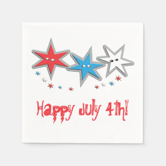 Starry Looks 4th of July - A Patriotic Trio Disposable Napkin