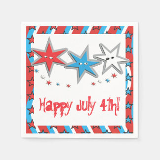Starry Looks 4th of July Paper Napkins - Patriotic