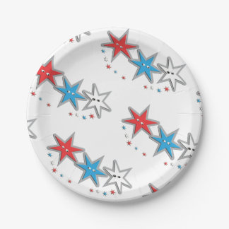 Starry Looks - A Patriotic Trio theme Paper Plates