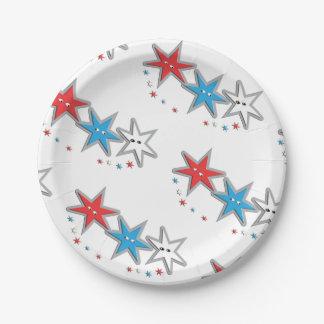 Starry Looks - A Patriotic Trio theme Paper Plates