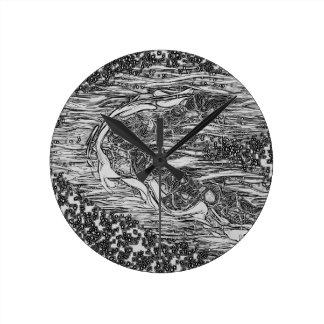 Starry Man Wall Clocks