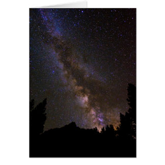 Starry Milky way, California Card