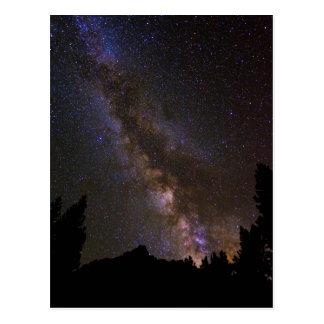 Starry Milky way, California Postcard