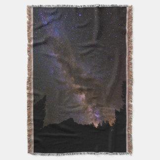 Starry Milky way, California Throw Blanket