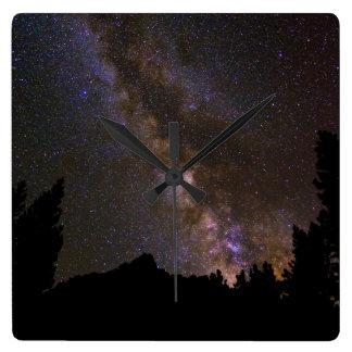 Starry Milky way, California Wall Clock