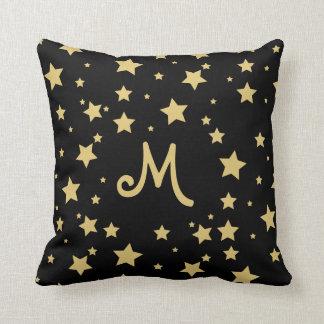 Starry Monogram Throw Pillow