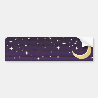 Starry Moon Bumper Sticker