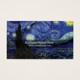starry night,1889,Vincent van Gogh Business Card