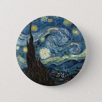 Starry Night 2 Inch Round Button