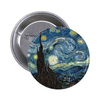 Starry Night 2 Inch Round Button