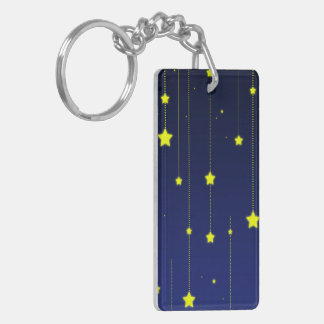Starry Night acrylic keychain