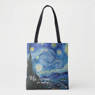 Starry Night All Over Print Teacher Tote