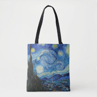 Starry Night All Over Print Tote