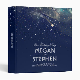 Starry Night and Shooting Star Special Occasion Vinyl Binders
