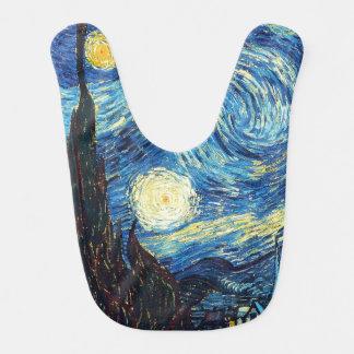 Starry Night Art Baby Bib