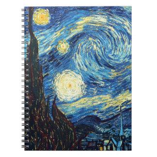 Starry Night Art Spiral Notebook