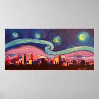 Starry Night at Denver Poster