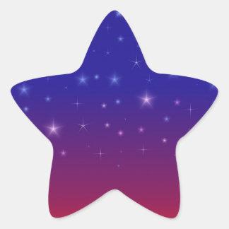 Starry Night at Sunset II Star Sticker