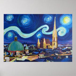Starry Night at Vienna Poster