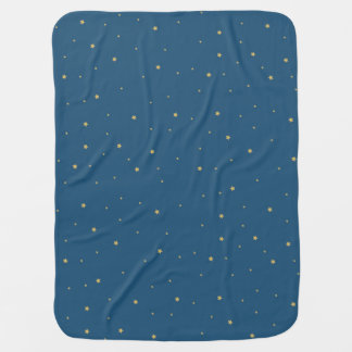 Starry night Blue Baby Blanket
