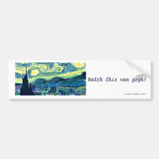 Starry Night Bumper sticker