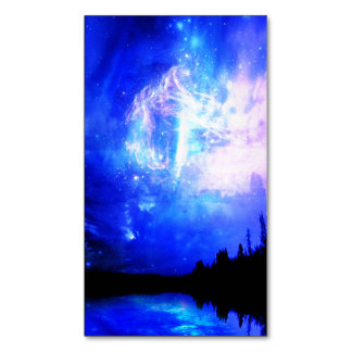 starry night business card magnet