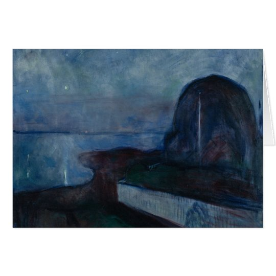 Starry night by Edvard MUNCH,symbolist painter Card