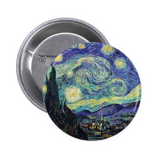 Starry Night by van Gogh 2 Inch Round Button