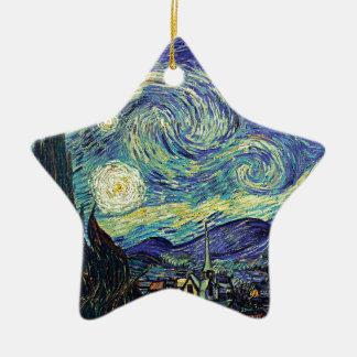 Starry Night by van Gogh Ceramic Star Ornament