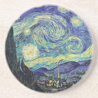 Starry Night by van Gogh Drink Coasters