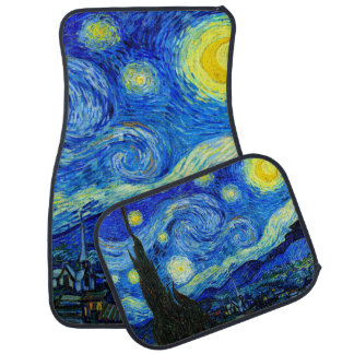 Starry Night by Van Gogh Fine Art Car Floor Carpet