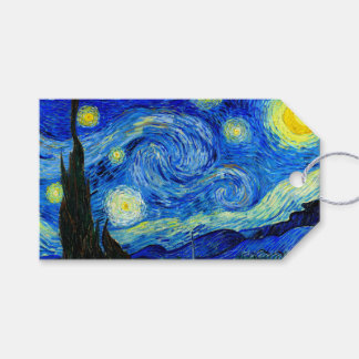 Starry Night by Van Gogh Fine Art Gift Tags
