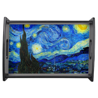 Starry Night by Van Gogh Fine Art Serving Tray
