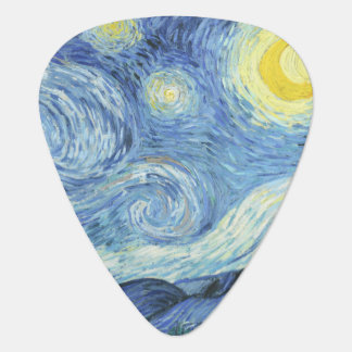 Starry Night by Van Gogh Guitar Pick