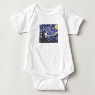 Starry Night by Van Gogh infant creeper