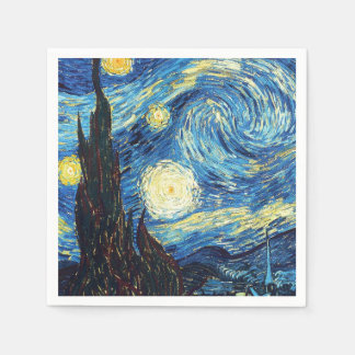 Starry Night by Van Gogh Paper Napkin