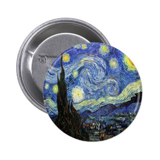 Starry Night By Vincent Van Gogh 1889 2 Inch Round Button