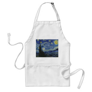 Starry Night by Vincent van Gogh - 1889 Standard Apron
