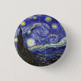 Starry Night by Vincent van Gogh 1 Inch Round Button