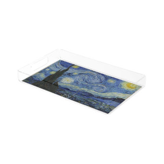 Starry Night by Vincent Van Gogh Acrylic Tray