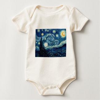 Starry Night By Vincent Van Gogh Baby Bodysuit