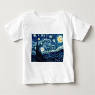 Starry Night By Vincent Van Gogh Baby T-Shirt