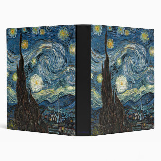 Starry Night by Vincent van Gogh Binder