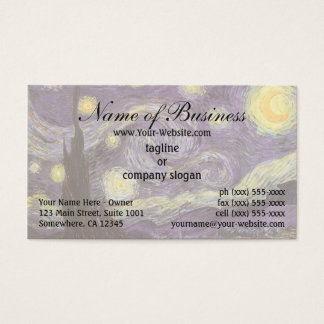 Starry Night by Vincent van Gogh Business Card