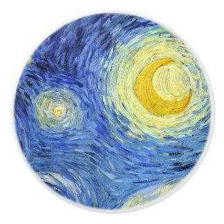 Starry Night by Vincent van Gogh Ceramic Knob