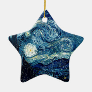 Starry Night By Vincent Van Gogh Ceramic Star Ornament